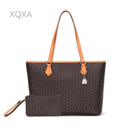 Top quality women canvas bag never handbag  Classic Canvas Women Shopping Bag Real Leather