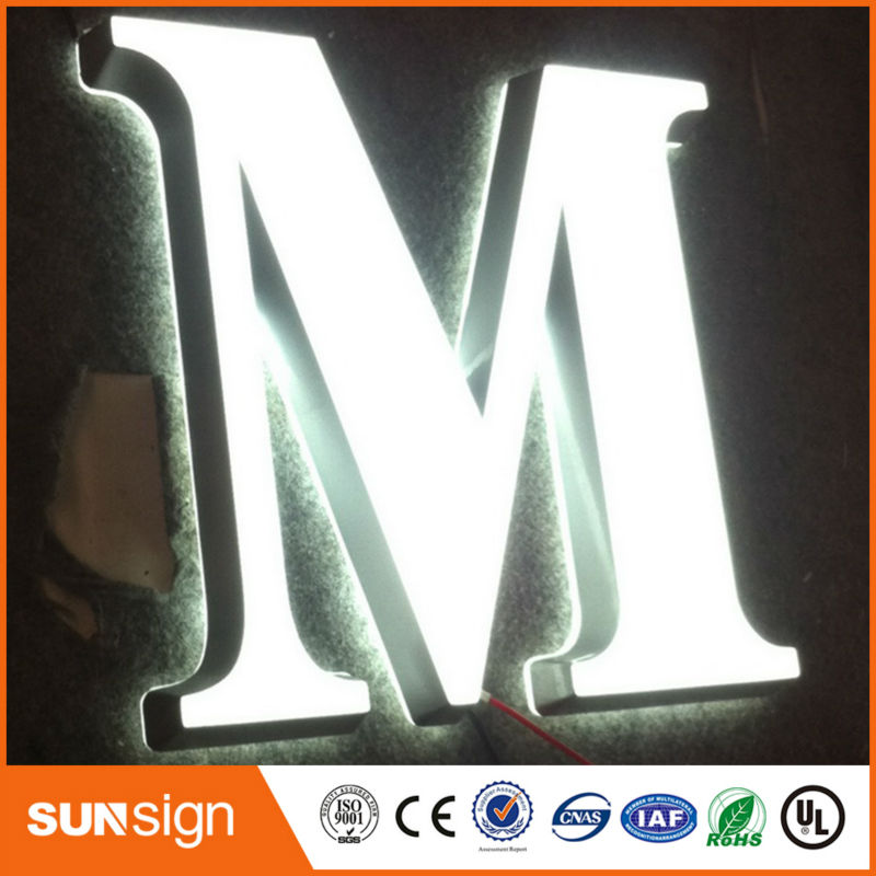 Custom Different Color Acrylic LED Frontlit Channel Letters