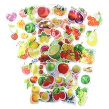 10pcs Cartoon Fruit Bubble Sticker Mobile Phone Album Notebook Decorative Stickers Children Stationery (Style Random)