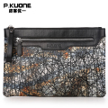 P.KUONE 2017 New Design Fashion Genuine Leather Clutch Bag High Quality Messenger Wallet Luxury Purse Casual Evening Handbag