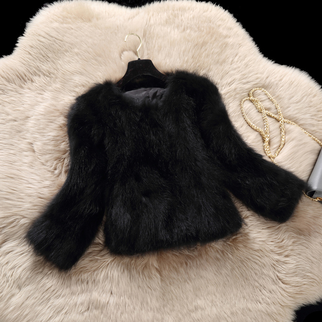 Genuine raccoon dog fur coat outerwear women's short slim real fur coats and jackets 2017 autumn and winter g37921