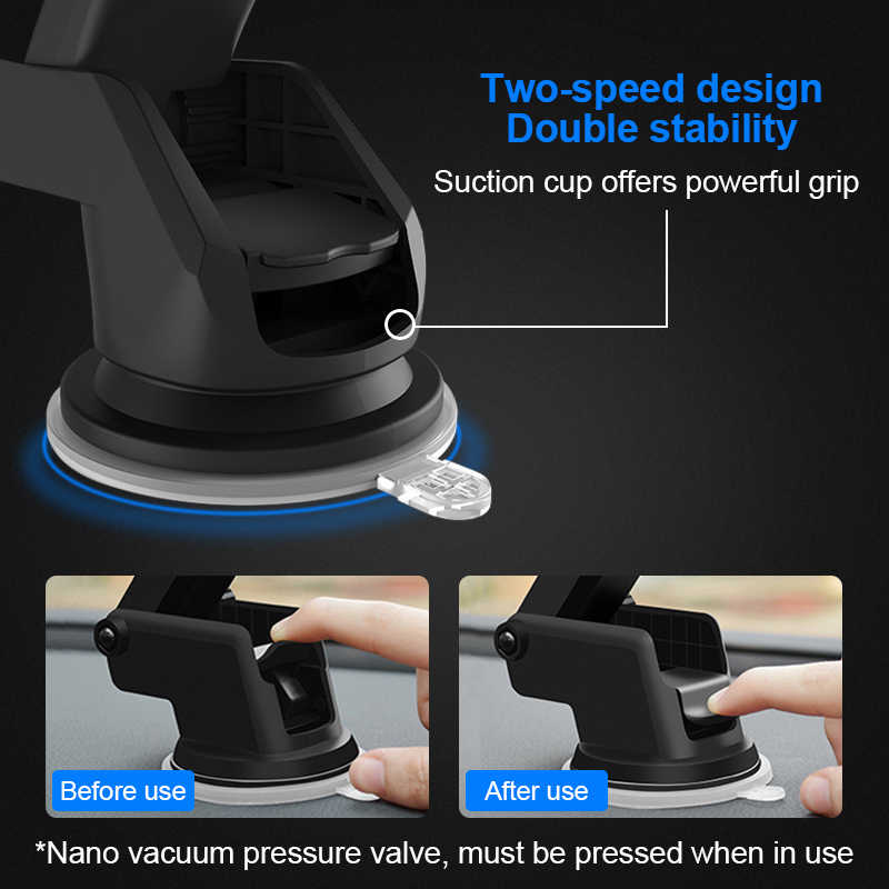 Car Phone holder Mobile Car 360 Dashboard holder for Your Mobile Phone with  Strong Sticky Base For Xiaomi iPhone X 8 7 Samsung