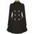 Diseño de marca Casual Gabardina Larga de Las Mujeres del Otoño de La Vendimia Elegante de Lana Capa Bi-capas de apertura Frontal Cinch cintura A-line