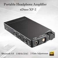 xDuoo XP 2 Portable Bluetooth 5.0 Headphone Amplifier Earphone Hifi USB DAC Headphones Amplifier Audio Mini Headphone Amp 300ohm
