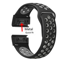 26mm Width Watch Strap for Garmin Fenix 3 Band Outdoor Sport Silicone Watchband for Garmin Fenix 3HR/Fenix 5X smart watch band strap stainless steel for garmin fenix 5x fenix 3hr fenix 3 2 1 smart watches band silicone watch wrist band 12 14