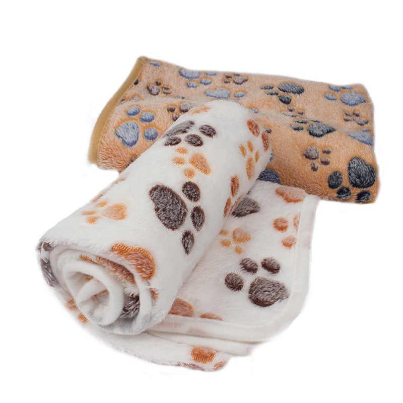 Кота собаки любимчика Мягкий ПЭТ Одеяло зимний собачий коврик для кошки стопы теплой одежды с изображением персонажей матрас для сна малых и средних собак кошек коралловый флисовый, для питомца поставки