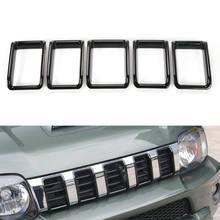 Para Suzuki Jimny 2012-15 rejilla frontal red recorte cubierta Exterior Marco de Decoración Estilo de coche etiqueta cromo ABS coche cubre Accesorios