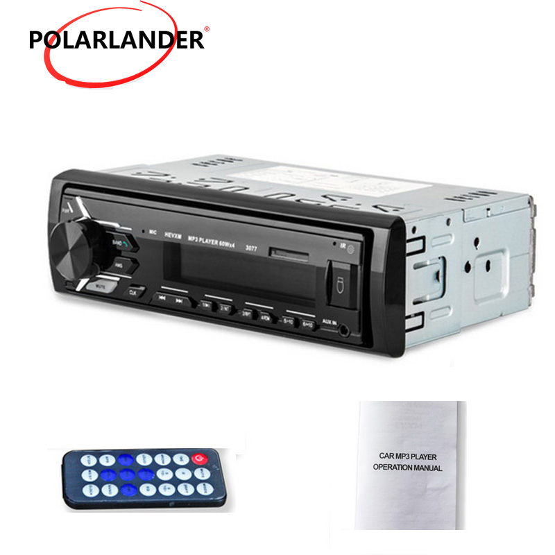 12V FM Aux Input Receiver 3077 Autoradio Car Radio Bluetooth SD USB MP3 MMC WMA Car Stereo In-dash Car audio Player 1 Din