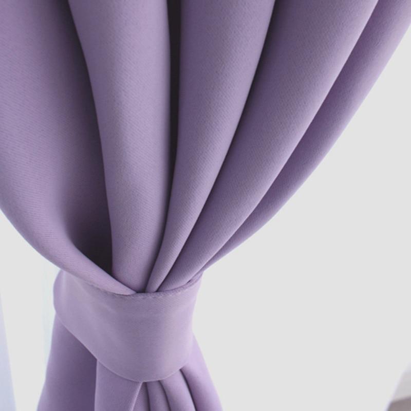 Korean Purple Blackout Curtains For Living Room Kitchen