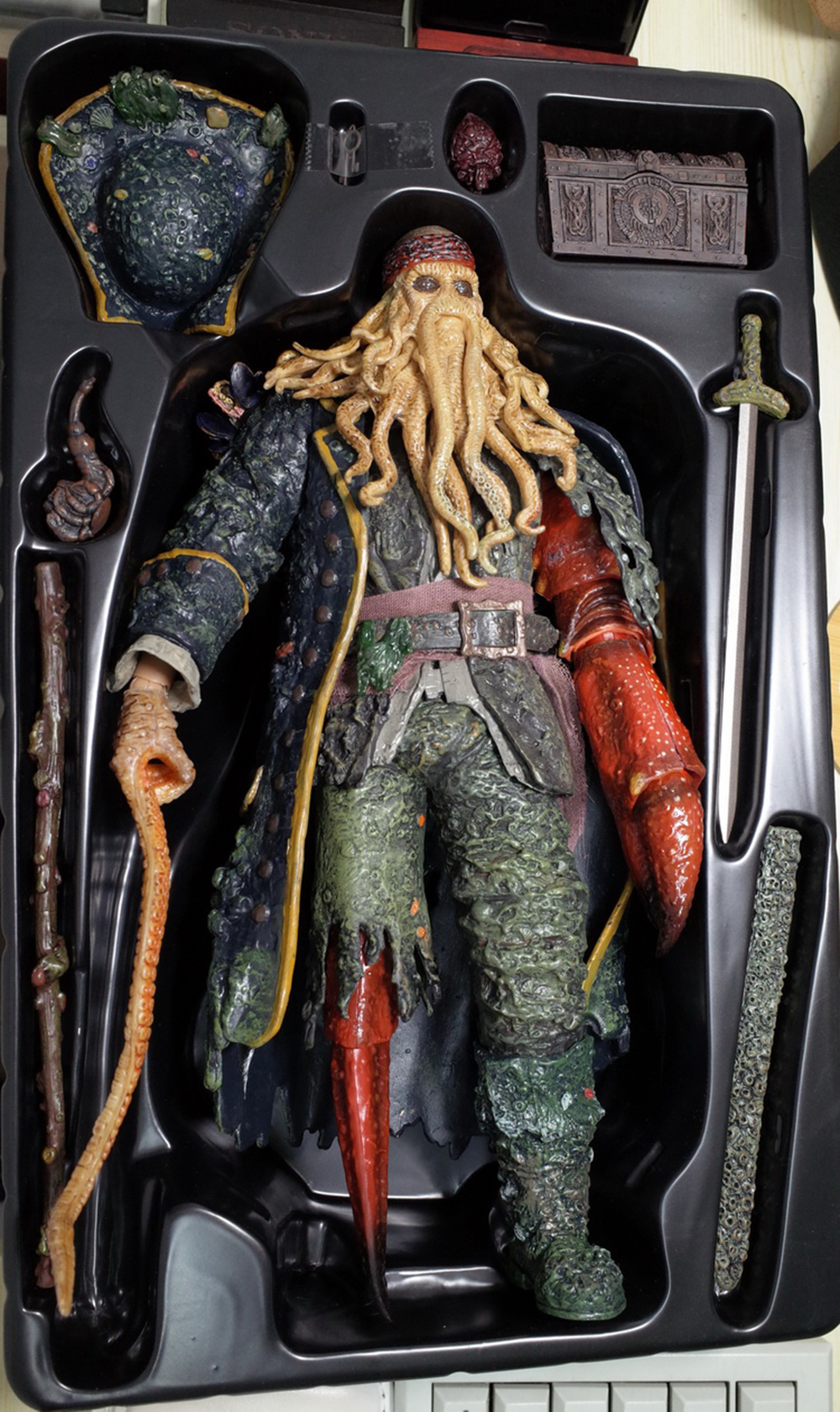 1/6 Caribbean Captain Action Figure Davy Jones figure doll full set doll With ACC Colletible Model Toys And original box 9