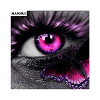 Mosaic 3D Diy Diamond Painting Butterfly Eyes Home Decoration Diamond Embroidery Classic Style Square Diamond BSP099