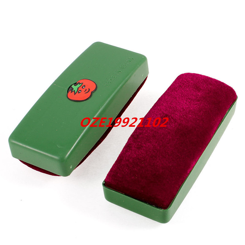 Green Dark Red Cartoon Tomato Print Blackboard Eraser Wipe Cleaner