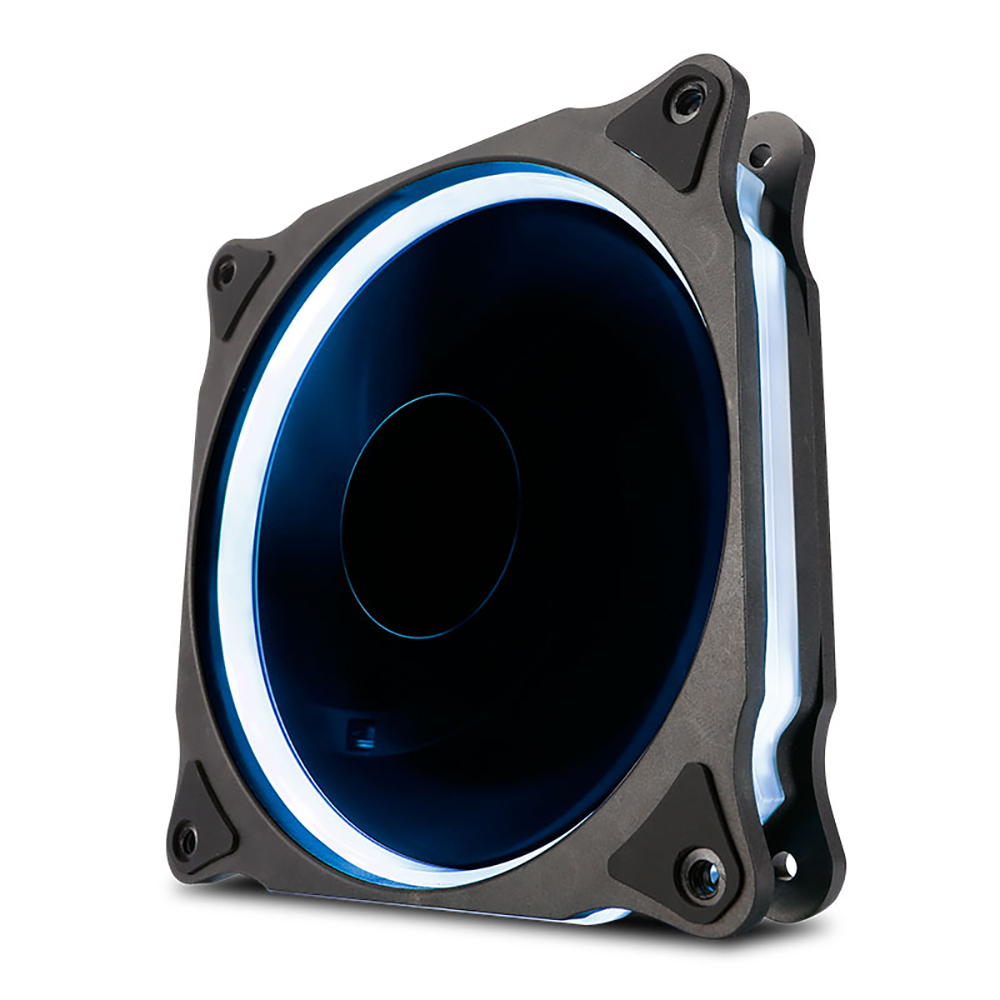 Auto Rgb Without Controller 4pin Use For Radiator Fan Computer Case Id Cooling Pl 12025 Led Biru Pwm 4 Pin 6pin Water Discharge Hydraulic Bearing Mute 120mm Gy12