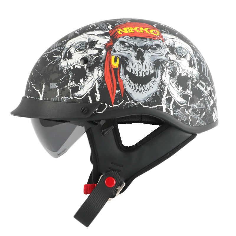 THH T72 Ретро стиль мотоциклетного шлема чоппер велосипед половина шлем с внутренним солнцезащитным стеклом moto rbike cascos para moto