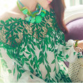 2016 Весна Лето Женщины Плюс Размер Блузка Сексуальная Выдалбливают Лоскутная Цветочные Свободные Мягкая Мода Блузки Blusas Femininas 1013