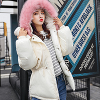 2018 Winter jacket women casual thick hooded coat fur collar chaqueta mujer plus size camperas mujer abrigo invierno