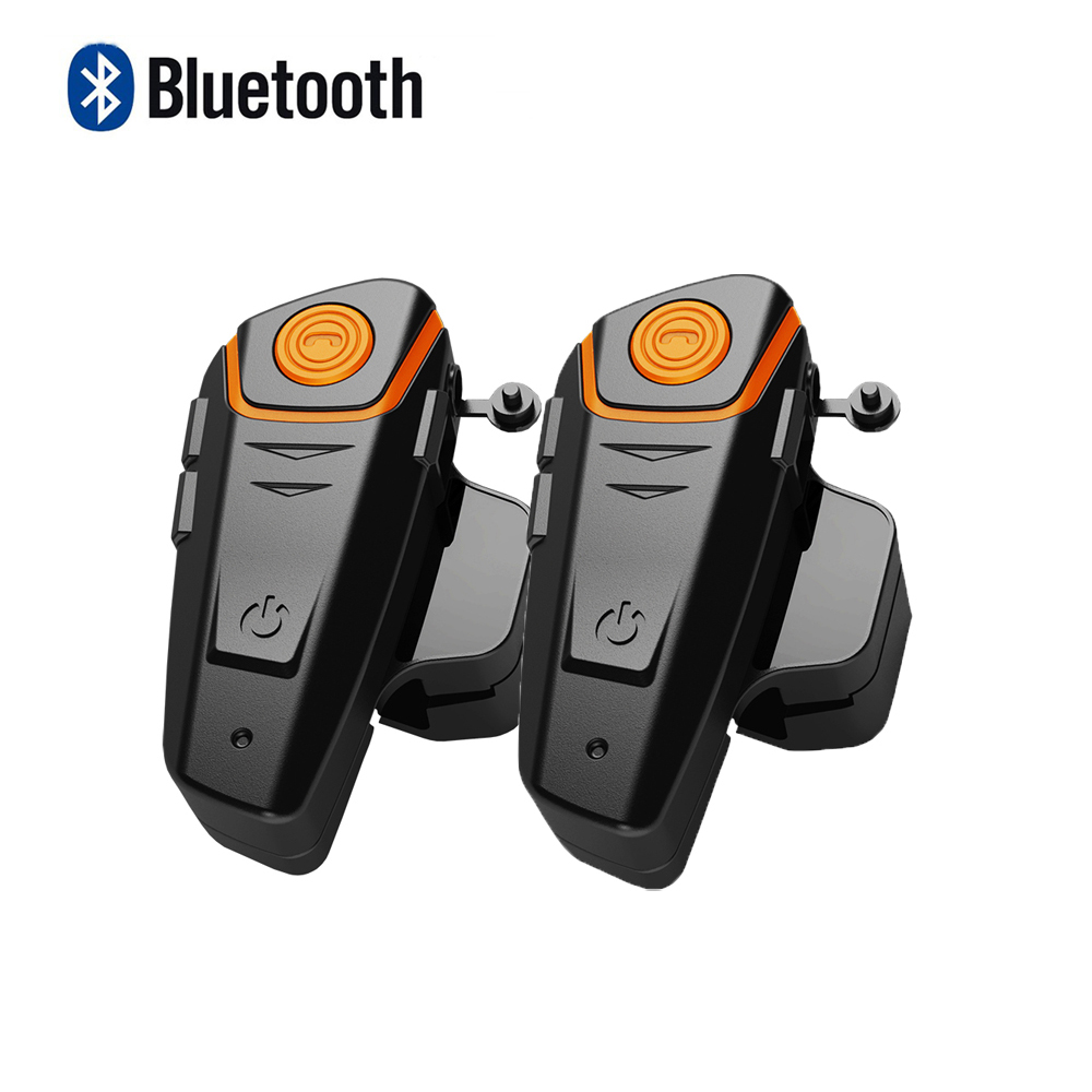 2 pcs Waterproof Motorcycle Helmet Intercom BT-S2 Moto Bluetooth Interphone Headset with FM function Wireless Helmet Interphone 500m motorcycle helmet bluetooth headset wireless intercom