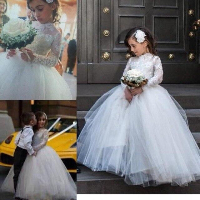 369e180388 Long Sleeve Flower Girl Dress Communion Dresses For Children