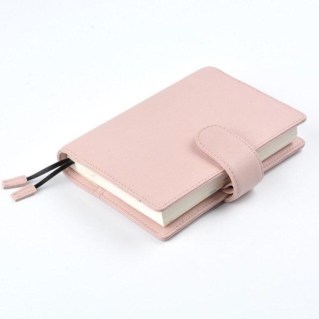 Nuevas llegadas cuero genuino A6 cuaderno planificador diario papelería Bloc de notas pequeño Hobonichi Agenda organizador gran bolsillo