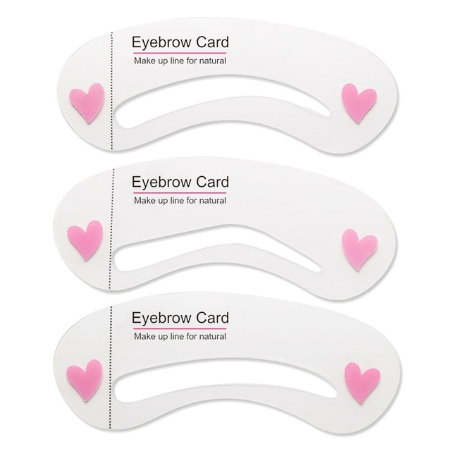 3Pcs/set Thrush Card Threading A Word Eyebrow Makeup Tools Threading Artifact Thrush Aid Card Eyebrows Mold Cosmetic Accessories 1
