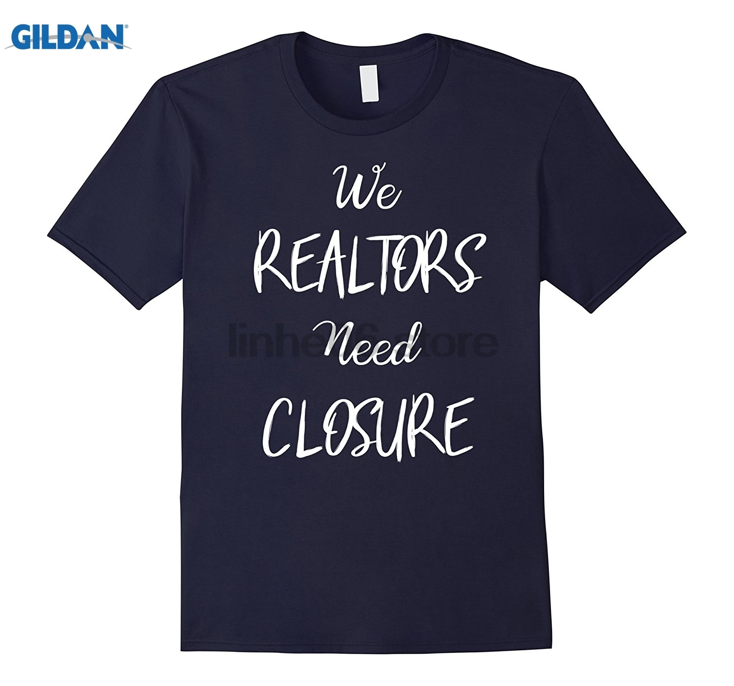 GILDAN Real Estate T-Shirt Realtor Tee Real Estate Agent T-Shirt Round neck short sleeve ...