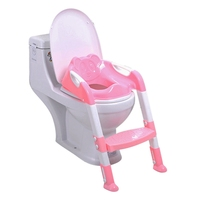 Anti slip Baby Potty Training Seat Children Potty Baby Toilet Step Stools Adjustable Ladder Infant Toilet Training Folding Seat