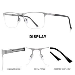 Image 2 - MERRYS gafas cuadradas y ultralivianas para hombre, anteojos masculinos con diseño de Montura de gafas de aleación de titanio, graduadas para miopía, S2031