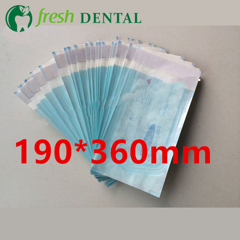 1Pc Dental Sterilization ziplock bags 190*360mm disinfection disinfection sterilization bags self-styled sterilized bags SL435 dental sterilization box for gutta percha root canal file high speed bur disinfection box dental tool box disinfection box sl308