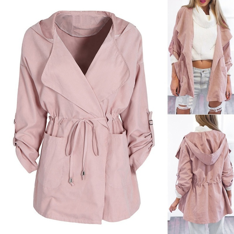 Zogaa 2019 Fashion Single Breasted Mid-long Side Ruffles Sleeves Trench   Coat   Women Slim Belt Cloak Mujer Elegant Trench   Coat