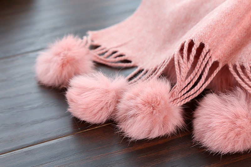 Cashmere Scarf Ball Tassels | Blanket Scarves | Up to 60% Off Now