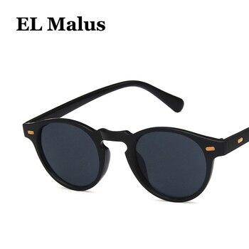 5fbd159848 [EL Malus] gafas de sol con montura ovalada pequeña Retro Para hombres y  mujeres