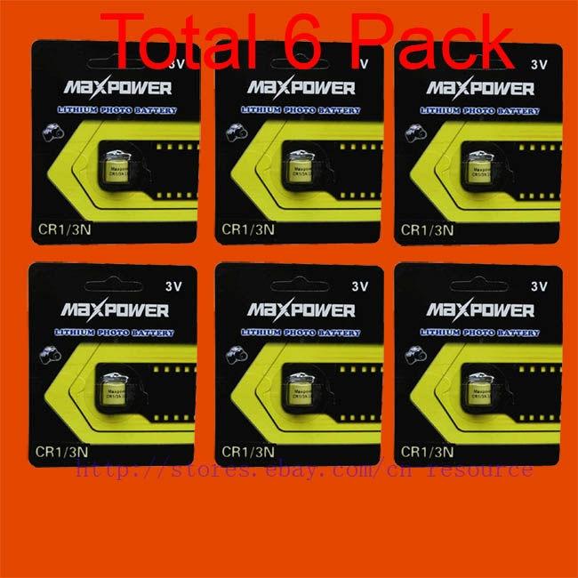 6 x CR1/3N 2L76 CR11180 DL1/3N 5008LC K58L batterie