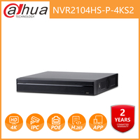 Dahua NVR2104HS P 4KS2 NVR4CH POE NVR 4K Network Video Recorder With 1SATA 2USB Interface For IP Camera without logo