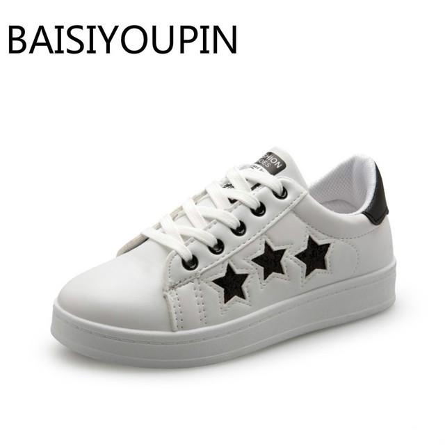 7a341bb81c3 The New Spring and Summer 2018 Women Small White Shoes Ladies Casual Shoes  Female Flats Shoes Student Movement Sport Shoes