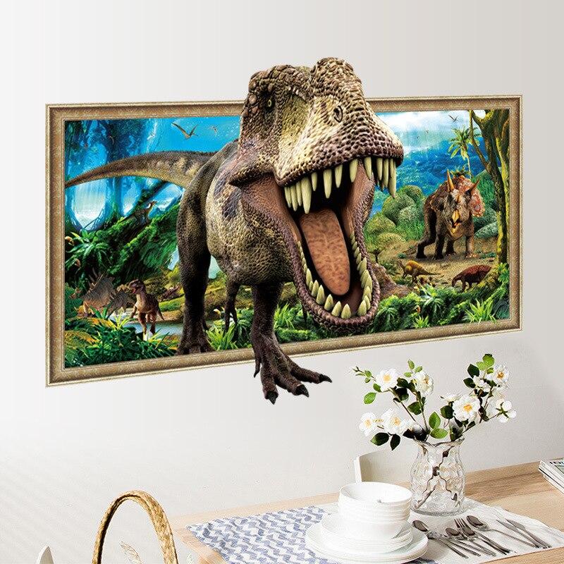 Aliexpress.com : Buy 3D False Window Dinosaurs Wall