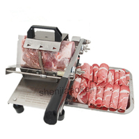 New Manual Meat slicer mutton roll slicing machine Stainless steel beef cutting machine meat planing machine beef/lamb slicer