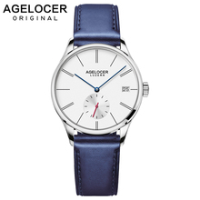 Agelocer Switzerland brand watches women fashion watch 2019 colorful leather strap 18mm watch lady relogio feminino 1203A6