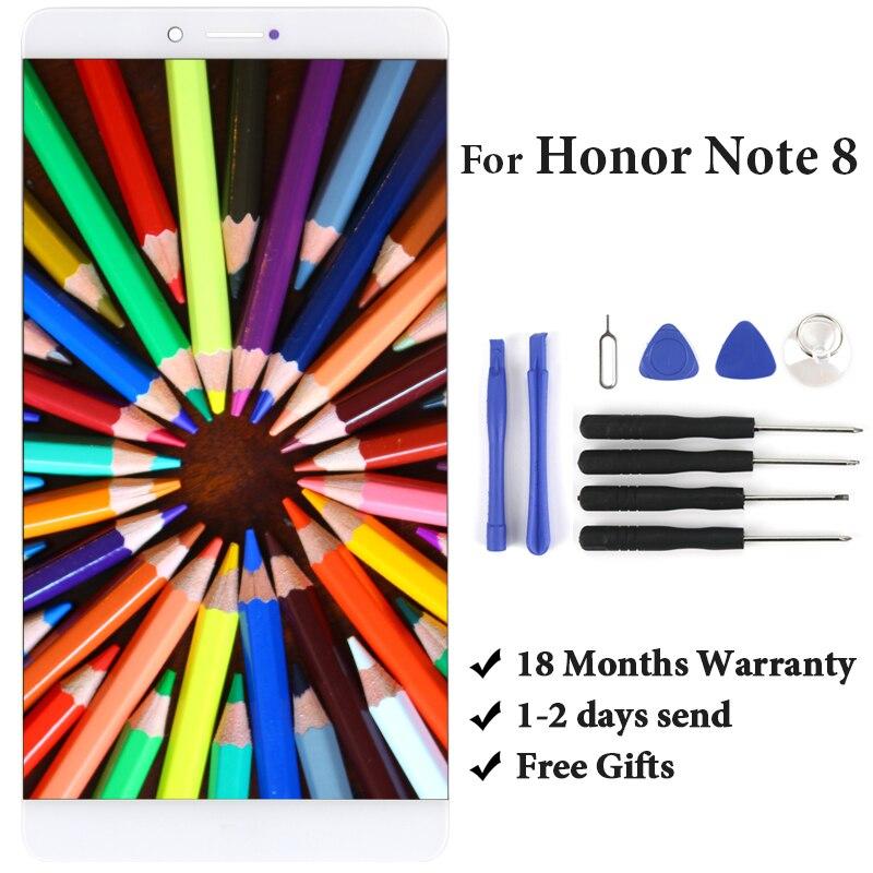6.6 pouces or blanc affichage pour Huawei Honor Note 8 EDI-AL10 LCD écran assemblée téléphone panneau remplacement pièces de rechange accessoires