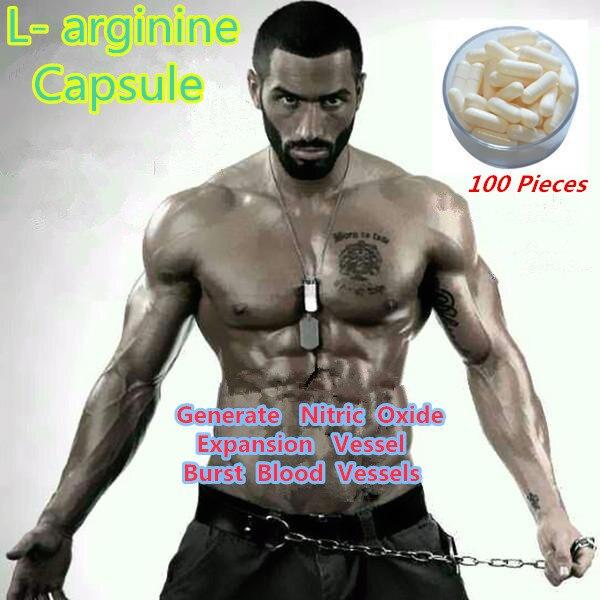 L-аргинин Капсулы 100 зерна/мешок Азот Насос Расширяют Кровеносные Сосуды, чтобы увеличить мышцы фитнес По Существу L-аргинин