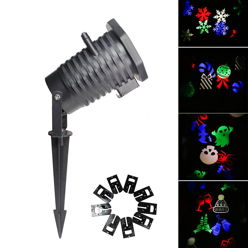 2016 10 patterns laser projector light halloween christmas - Halloween laser light show ...