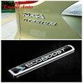 Ecoboost carro Esporte Cauda Etiqueta Do Logotipo de Titânio Logotipo Adesivos Para Ford Focus 2 3 4 Fiesta Kuga Fuga Ecosport Para Mondeo Borda