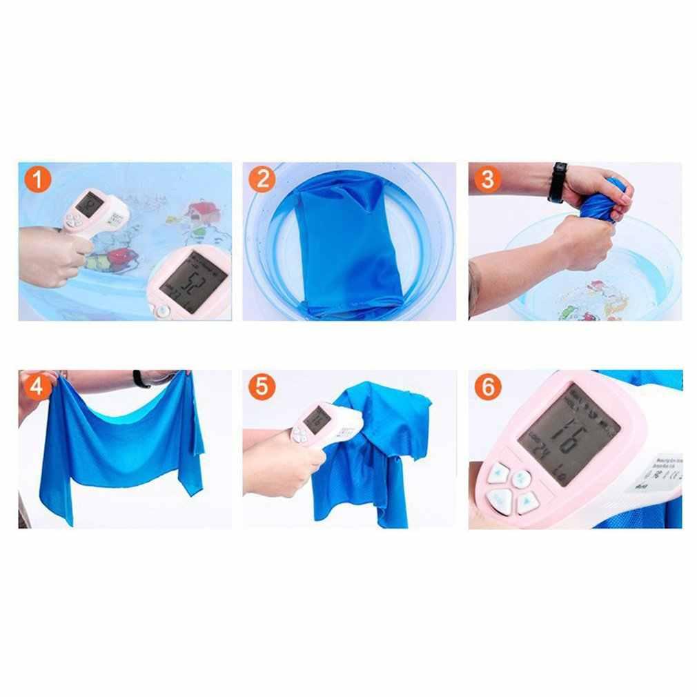 Corée du sud serviette froide magique sport été-preuve serviette froide Monochrome pleine Polyester serviette en soie froide
