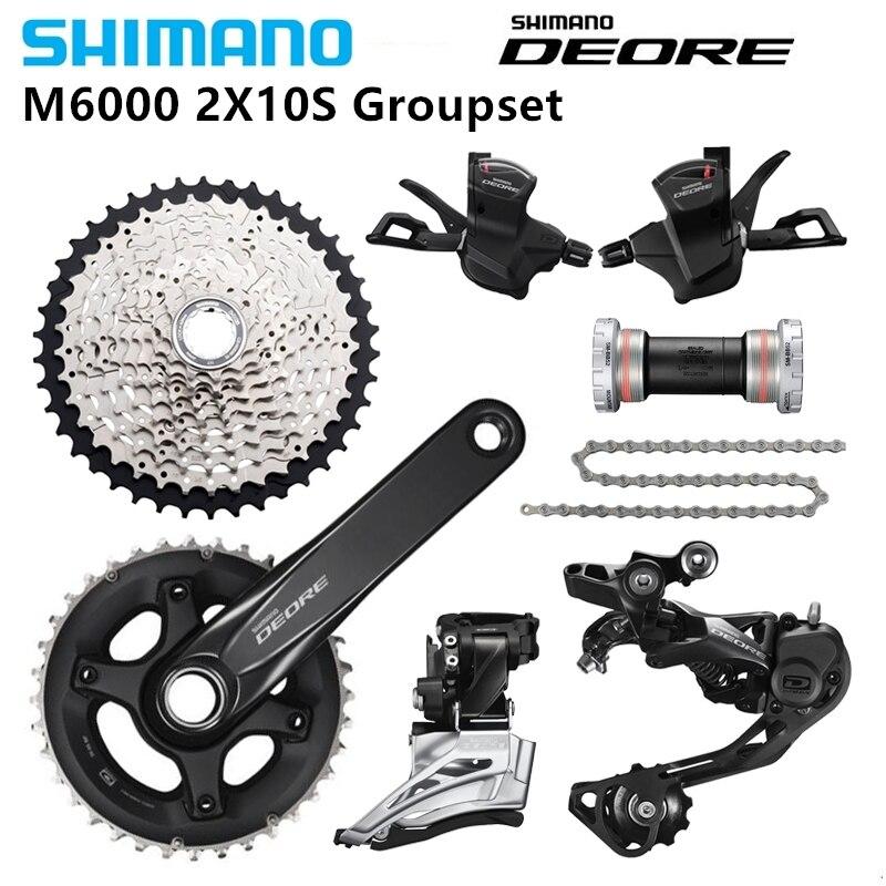 SHIMANO DEORE M6000 2x10s 28 36 28 38T 170 175MM 11 42T MTB Mountain Bike Kit