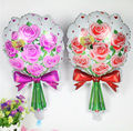 2pcs Romantic red pink Bouquet rose flowers foil balloons mariage wedding decoration Valentine's Day event & party supplies