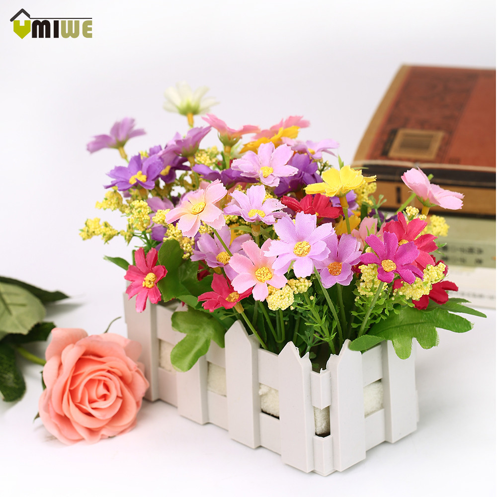 Umiwe home ornaments fake simulation silk decoration for Artificial flowers decoration home