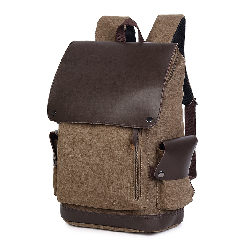Canvas Mens Backpack Travel Backpack School Bag Large Capacity Male Laptop Backpacks For Teenager Boys Student Bookbags Mochila