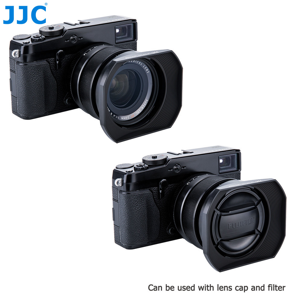 цена на JJC Black Square Camera Lens Hood 62mm for FUJINON LENS XF 23mm F1.4 R/XF 56mm F1.2 R/XF 56mm F1.2 R APD Replaces LH-XF23