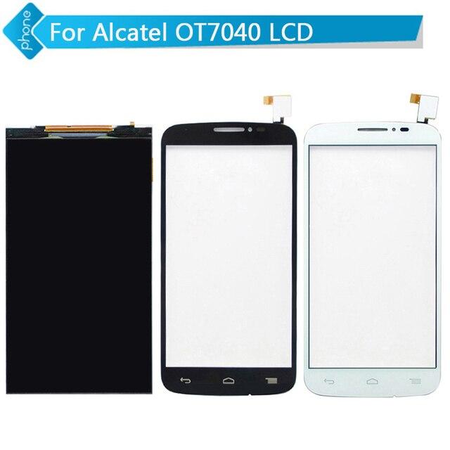 Para alcatel one touch pop c7 ot7040 7040 7040d 7040a 7041d lcd display + touch screen digitador
