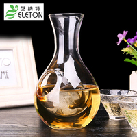 Eleton Japanese hamster nest cooling hole thumb hole sake glass ice jug wine pourers creative crystal decanter set bar set