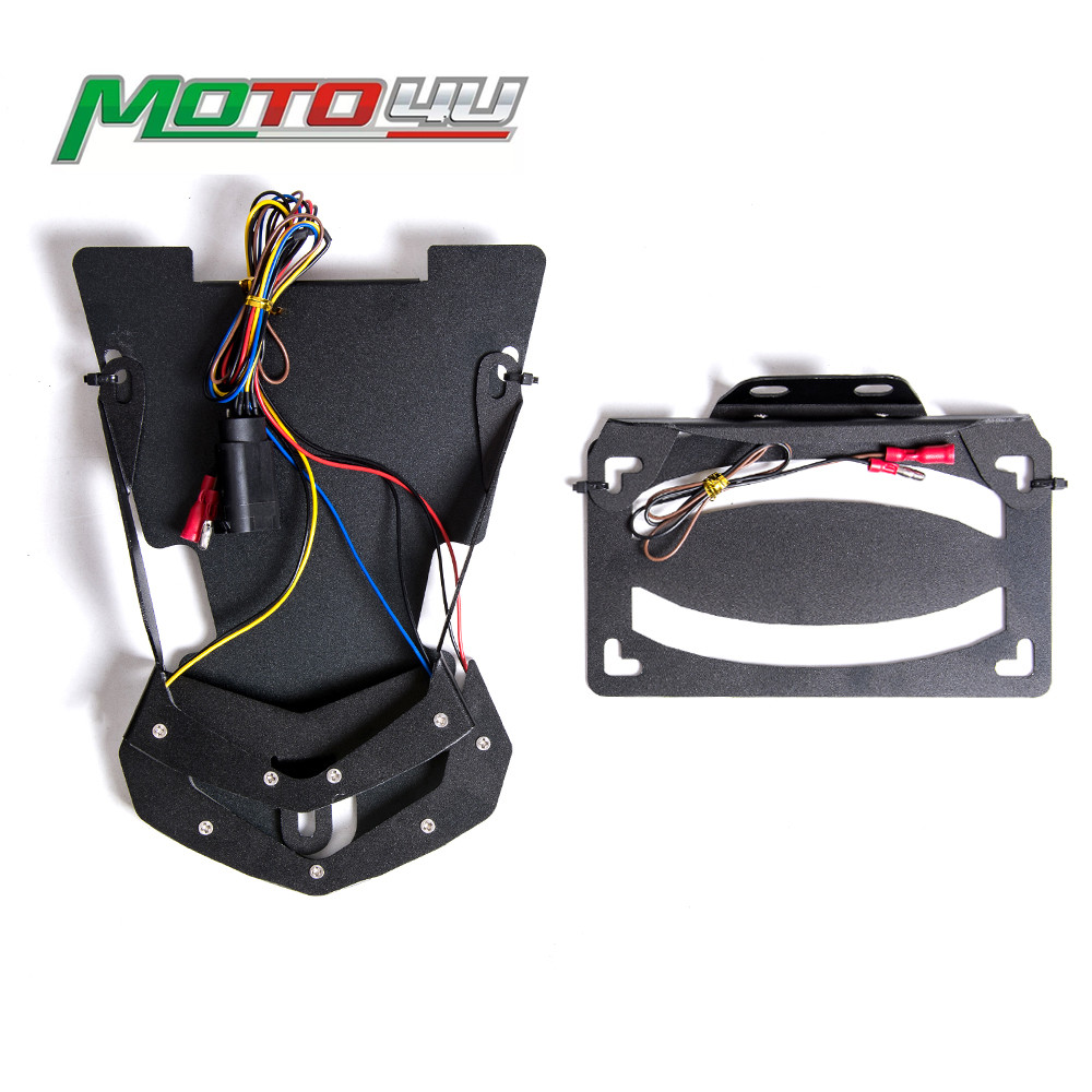 Tail Light Integrated Turn Signal Light Bracket Light License Plate Holder with LED For BMW R